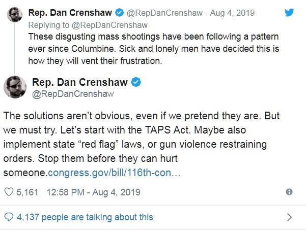 GOP REP DAN CRENSHAW, SEN LINDSEY GRAHAM PUSH GUN CONTROL IN WAKE OF LEFTIST?S MASS SHOOTING 01