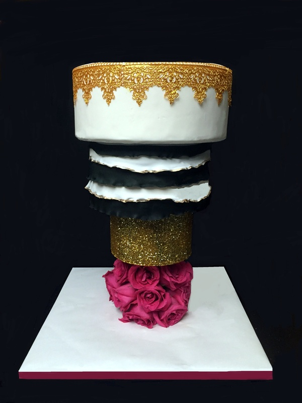 Upside down wedding cake