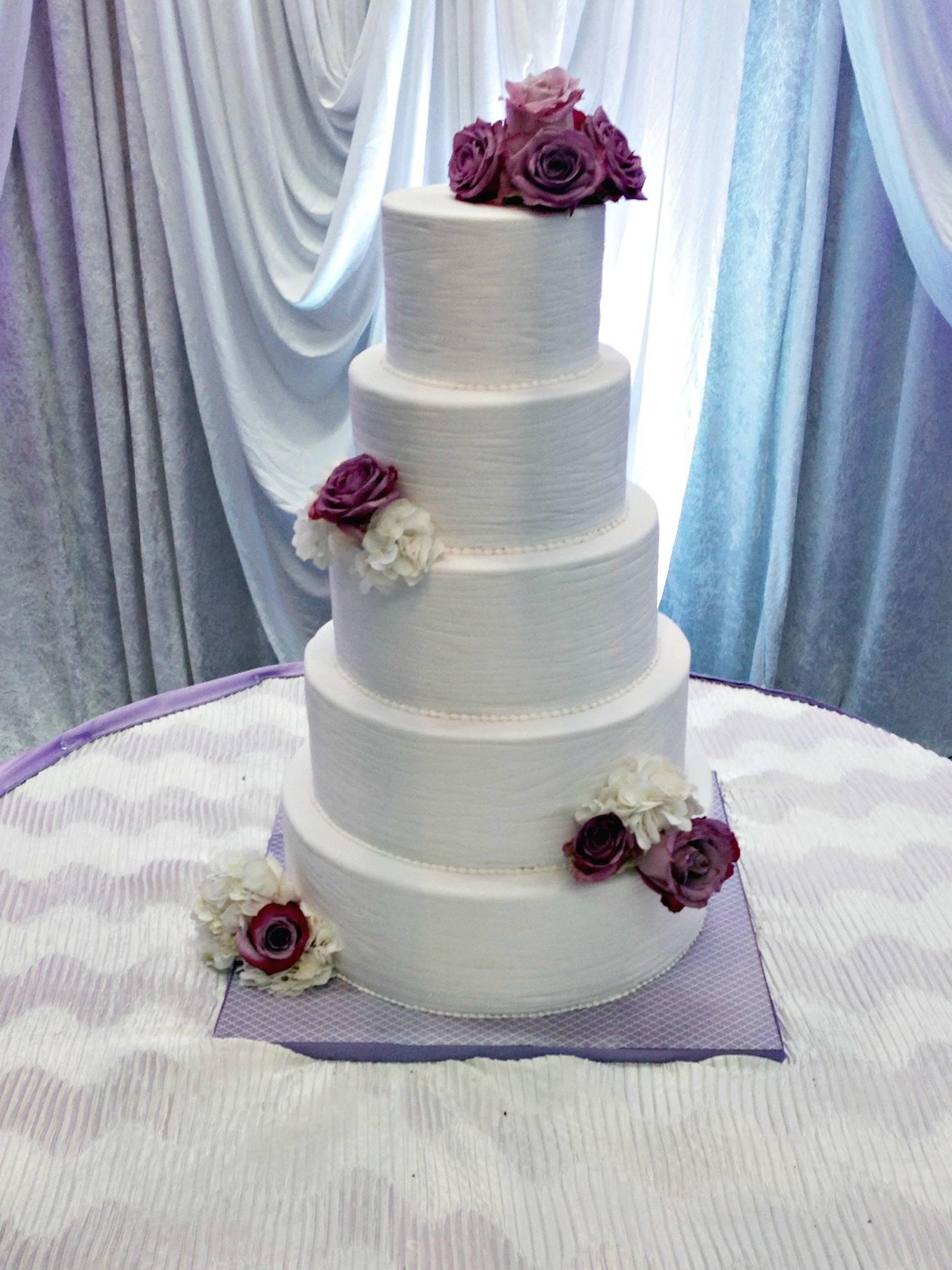 Textured Fondant cake