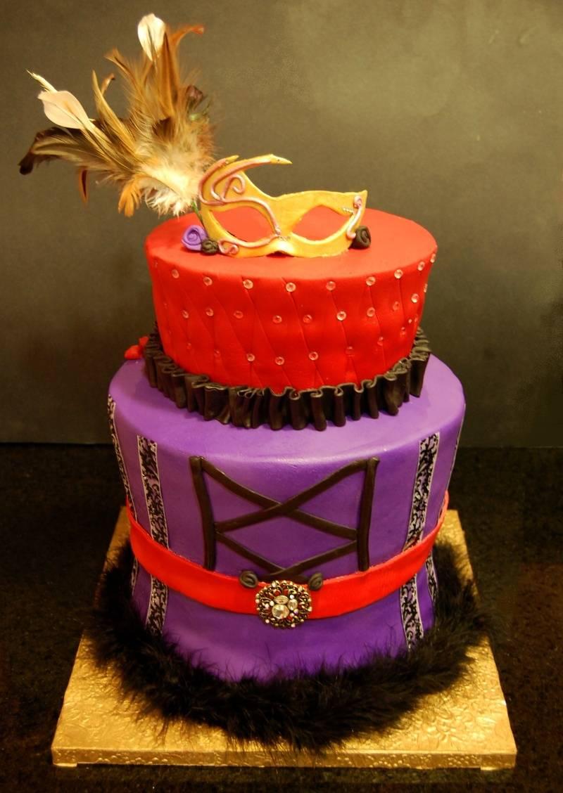 Masquerade themed Cake