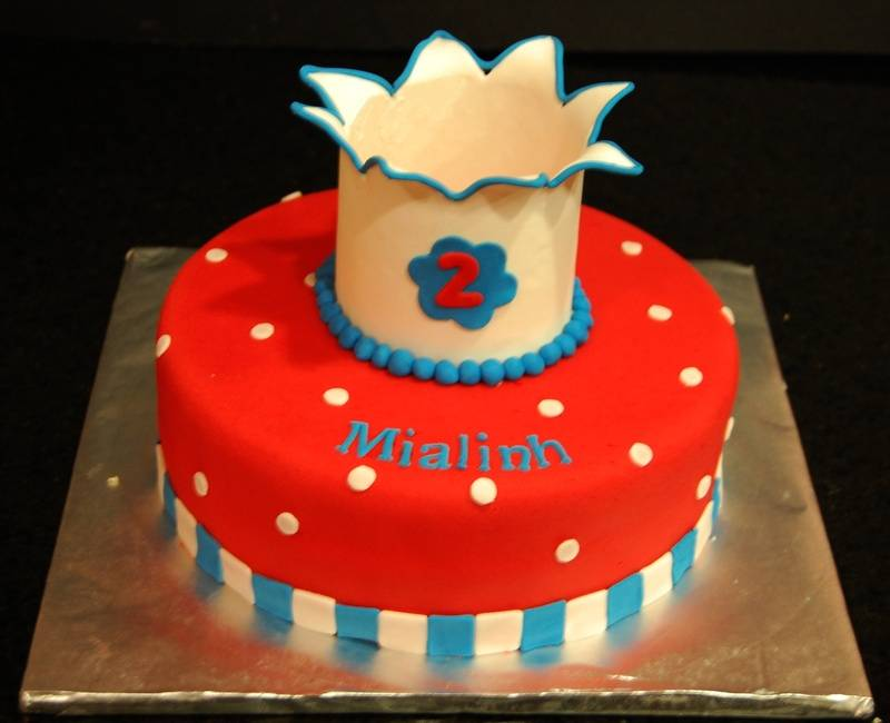 A small adorable cake for a little princess