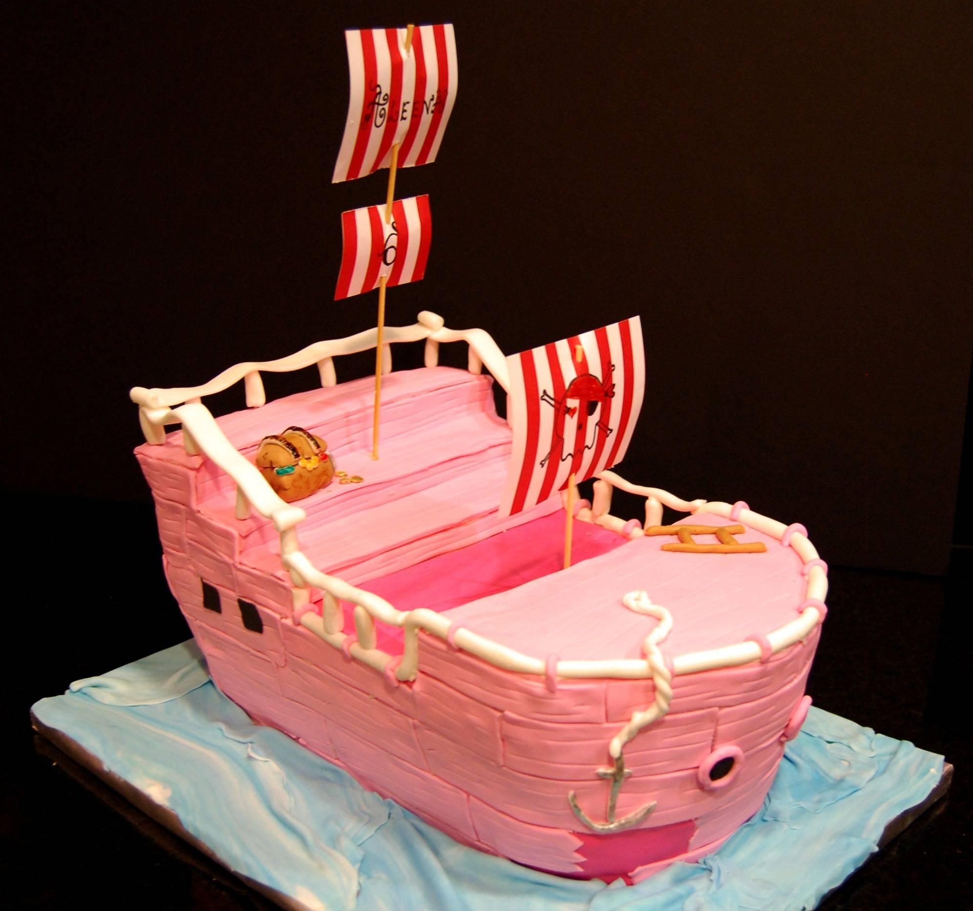 Pirate Ship Cake