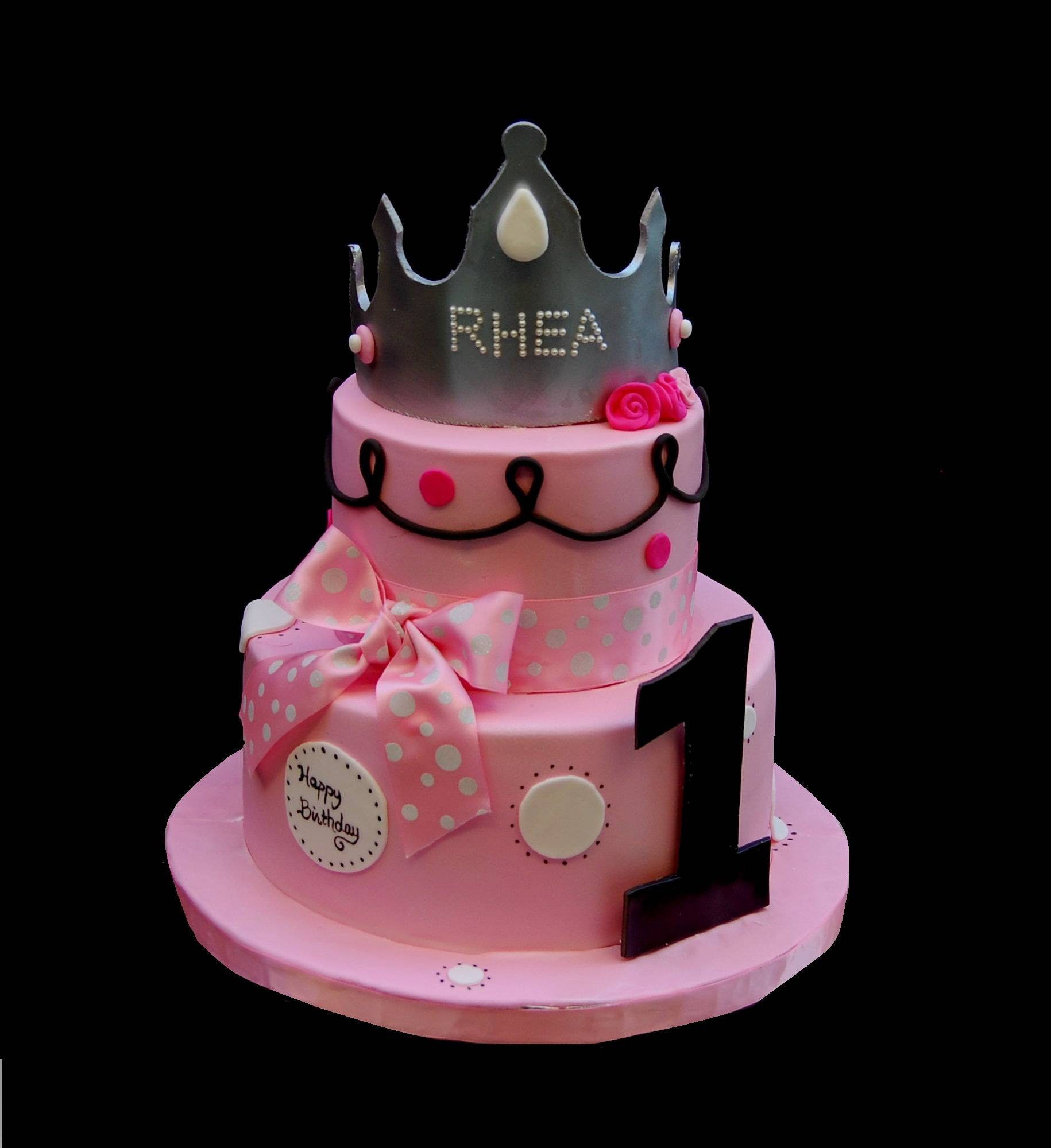 A small birthday cake for a one year old princess