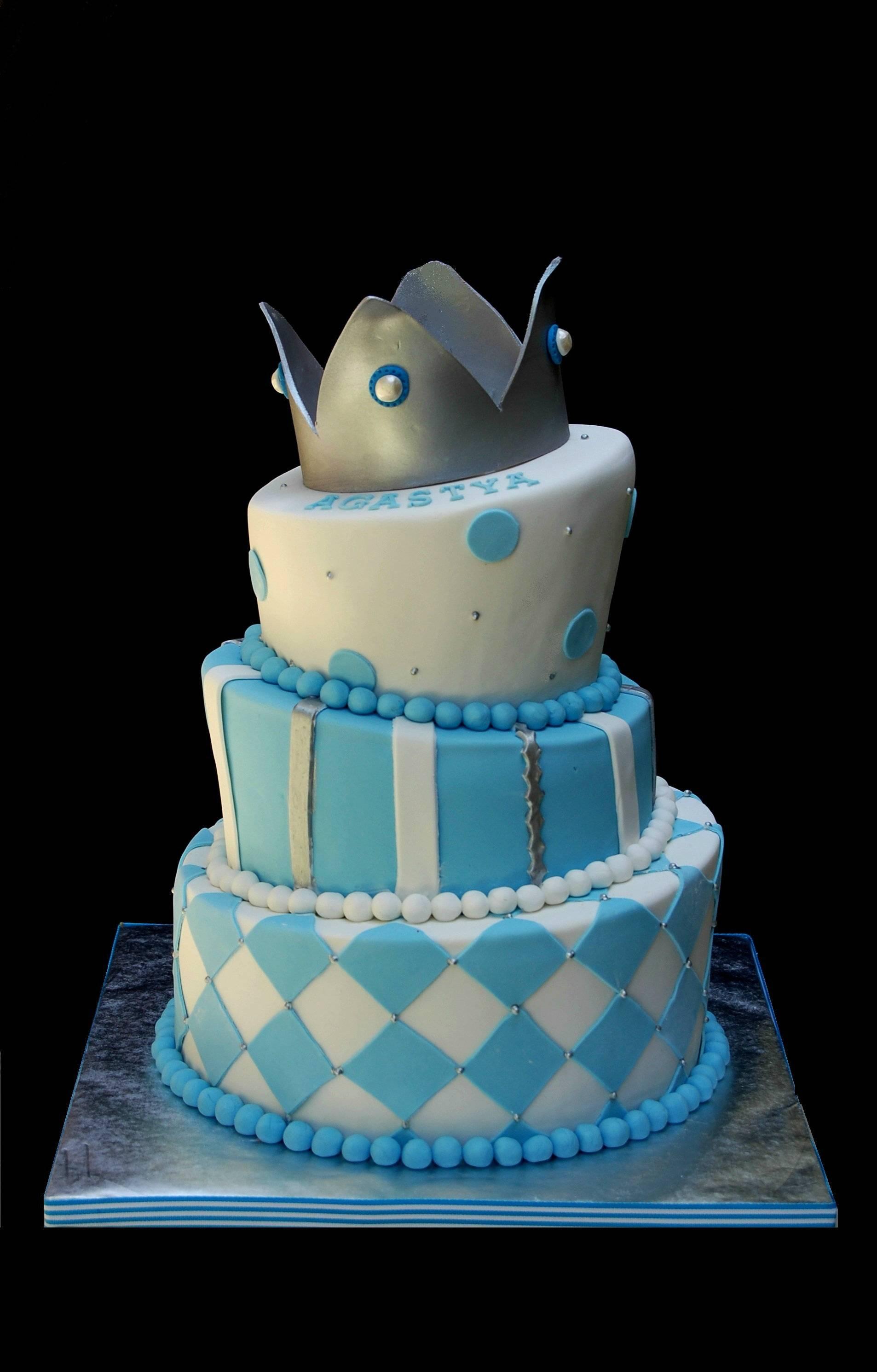 Topsy turvy Prince themed Cake