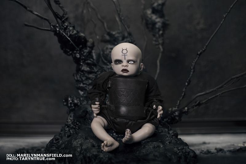 Marilyn Manson inspired reborn doll