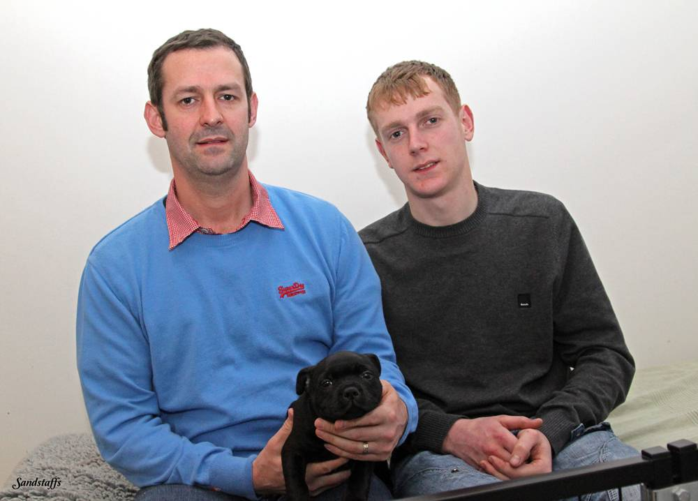 Me, Jordan + Buzz at 7 week's, Sandstaff Golden Dragon Marstaff