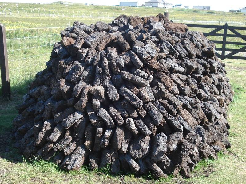 peat for the winter fires