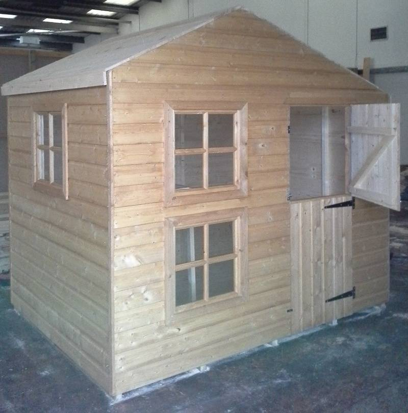 Two Storey Wooden Playhouse (6' x 8')
