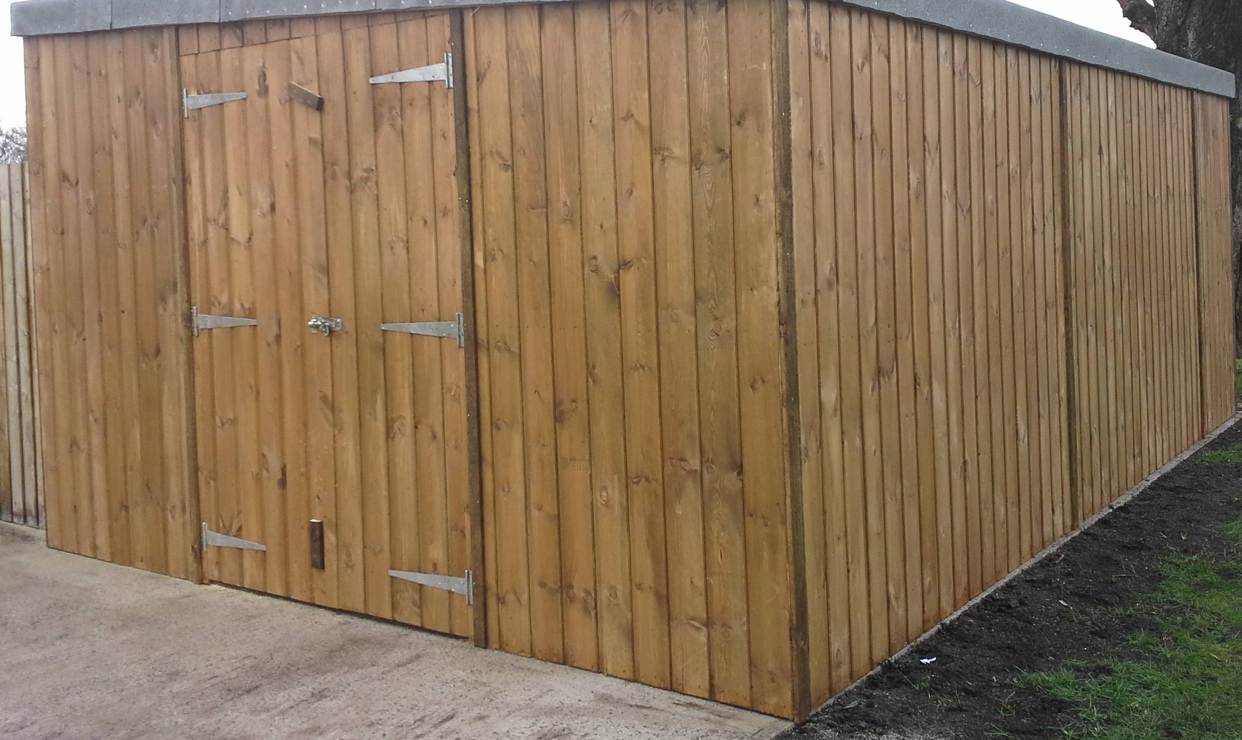 Pent Timber Garage (20' x 12') Vertical Cladding
