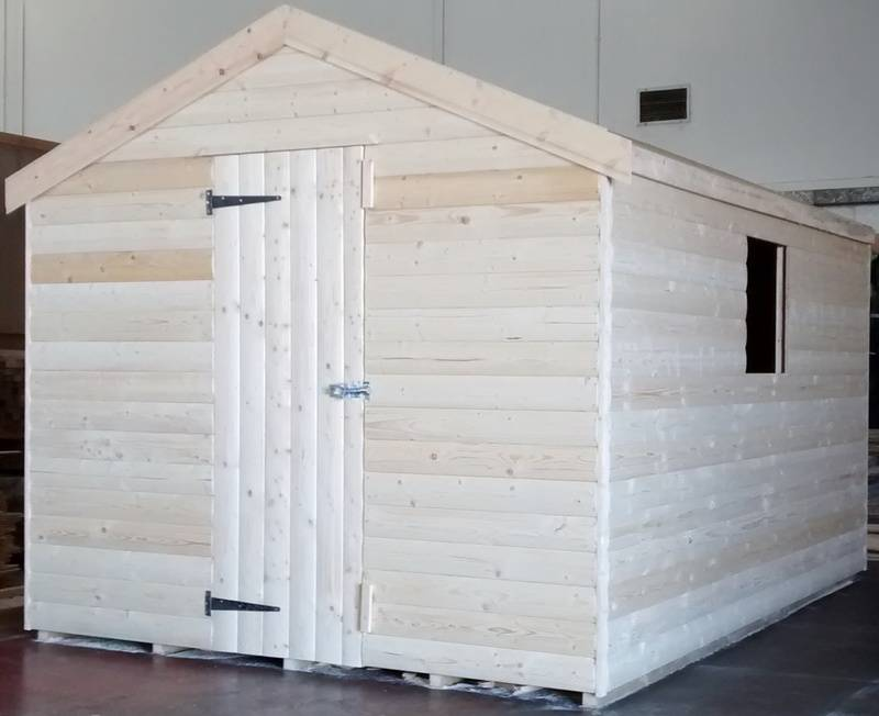 Apex Shed (11' x 8') 19mm Loglap Cladding