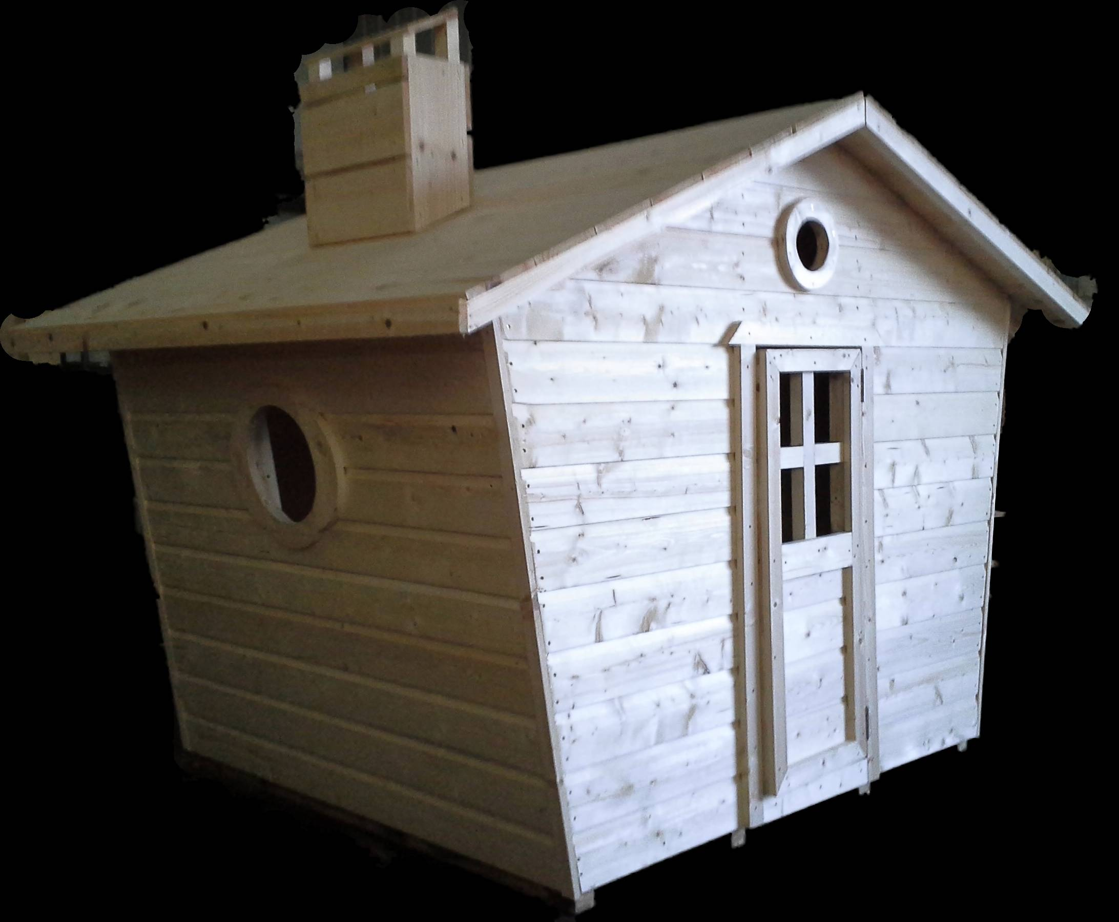 Fancy Wooden Playhouse (5' x 5')