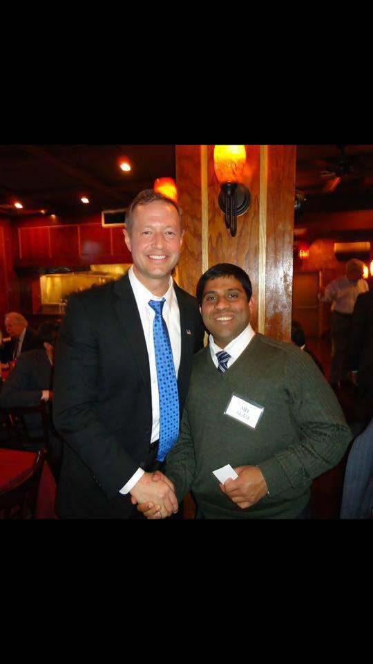 MD ALAM WITH GOVERNOR MARTIN O'MALEY