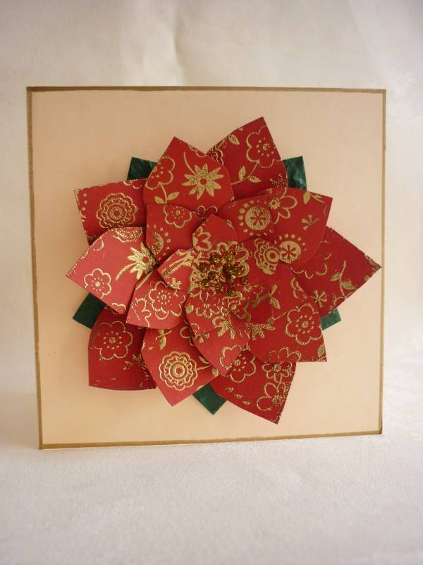 Funky Flower Cards and 'Perfect Poinsettia' Layering Template 2