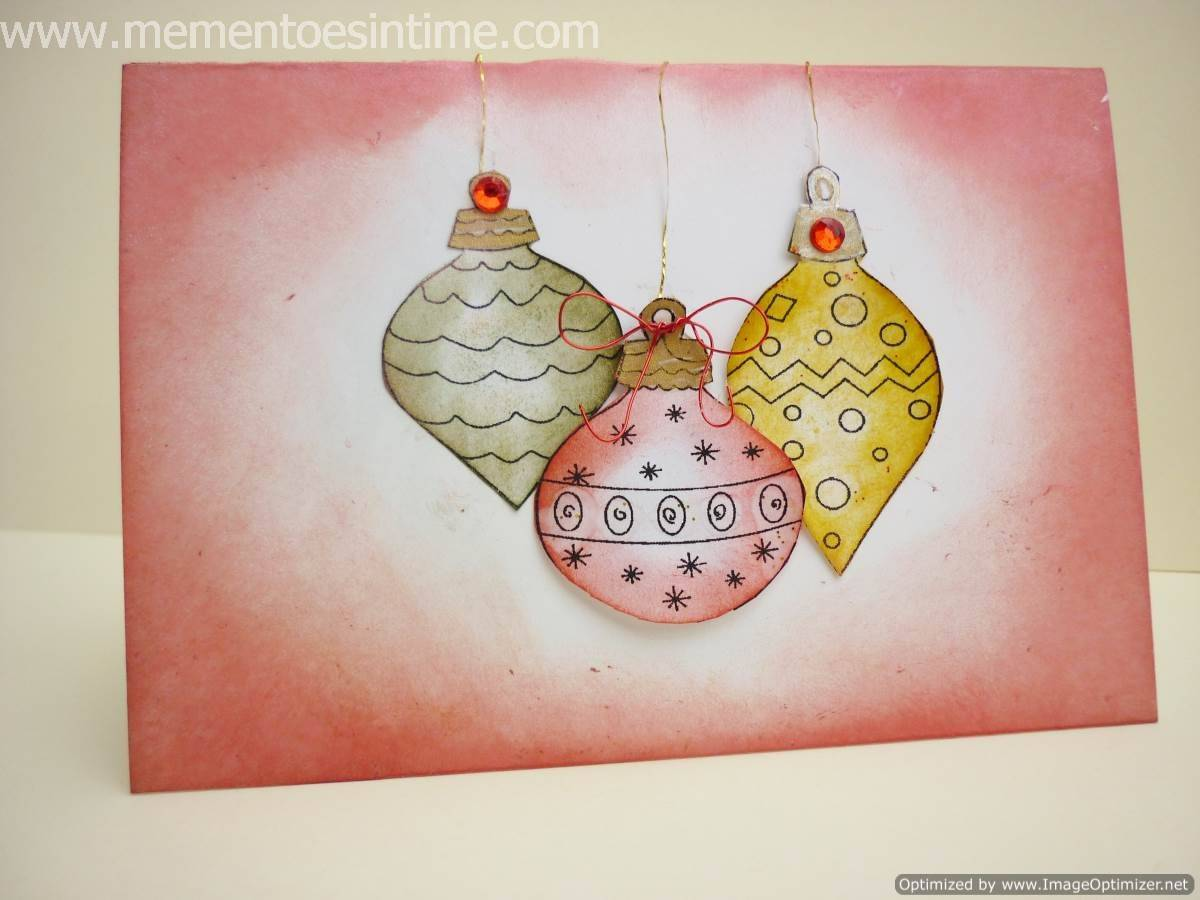 Chalked Ornaments Card
