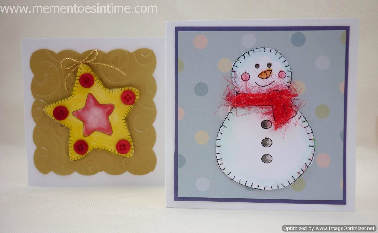 Star and Snowman Gift Cards