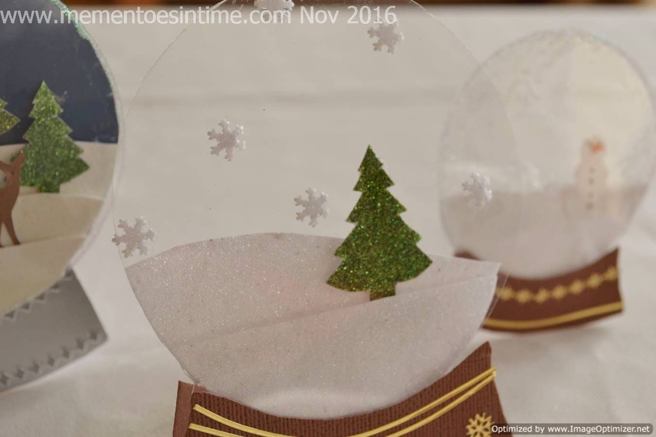 Snow Globe Card Template