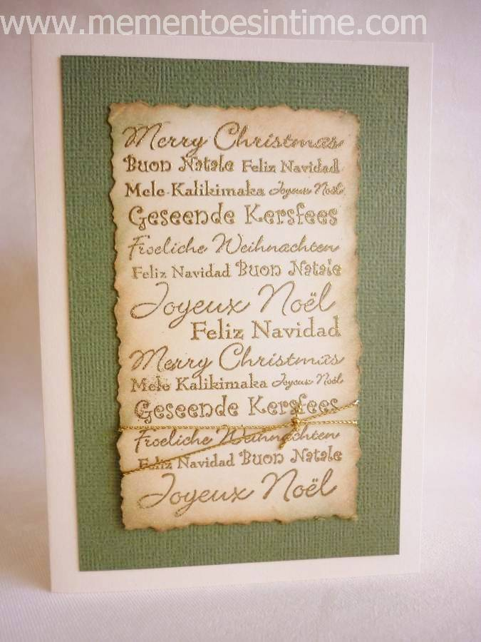 Distressed Christmas Wording
