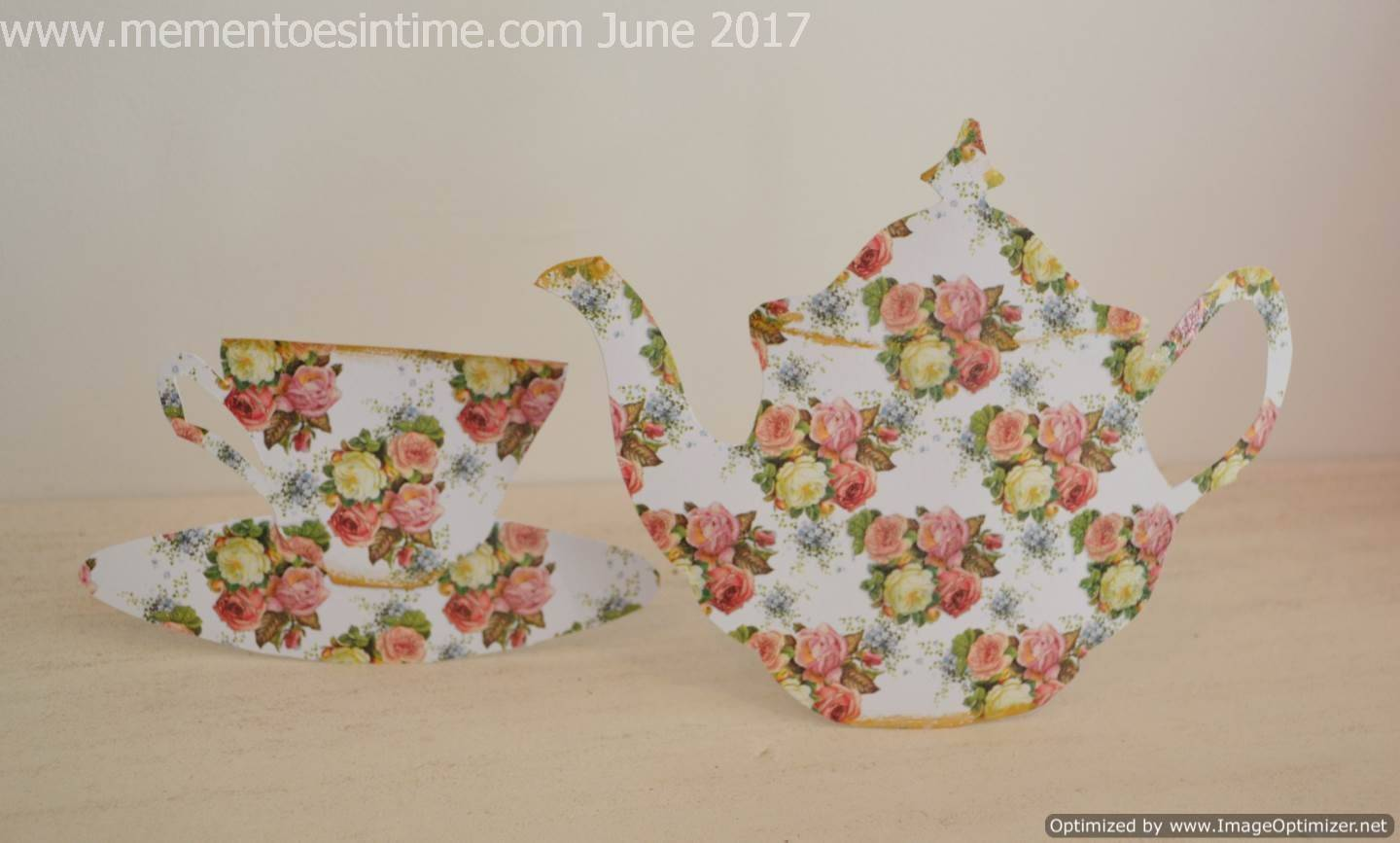 Rose Teapot and Teacup Cards