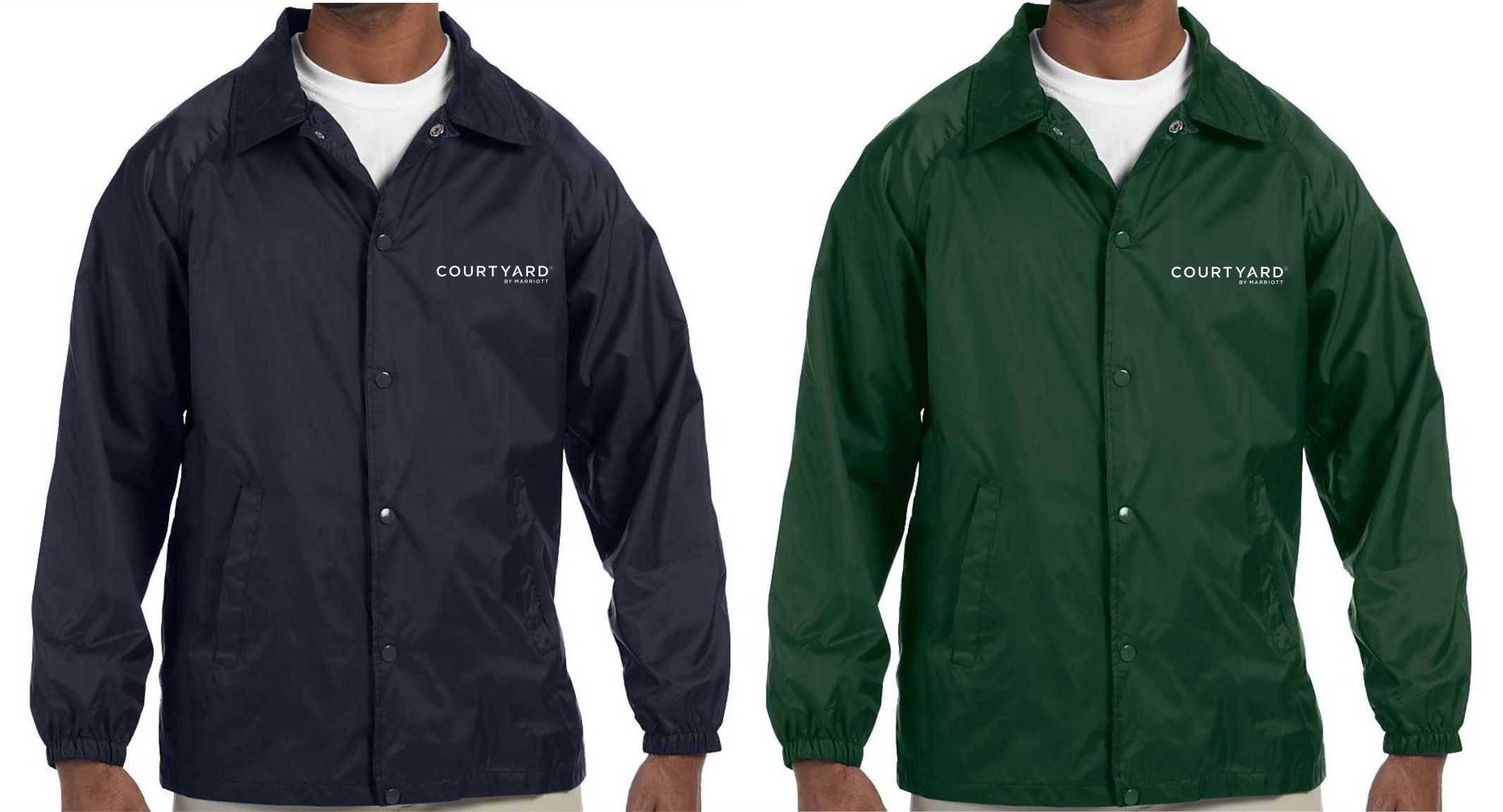 Lined Jackets | Silk-Screen Logo | Nylon Shell | Polyester Lining | Elastic Cuffs