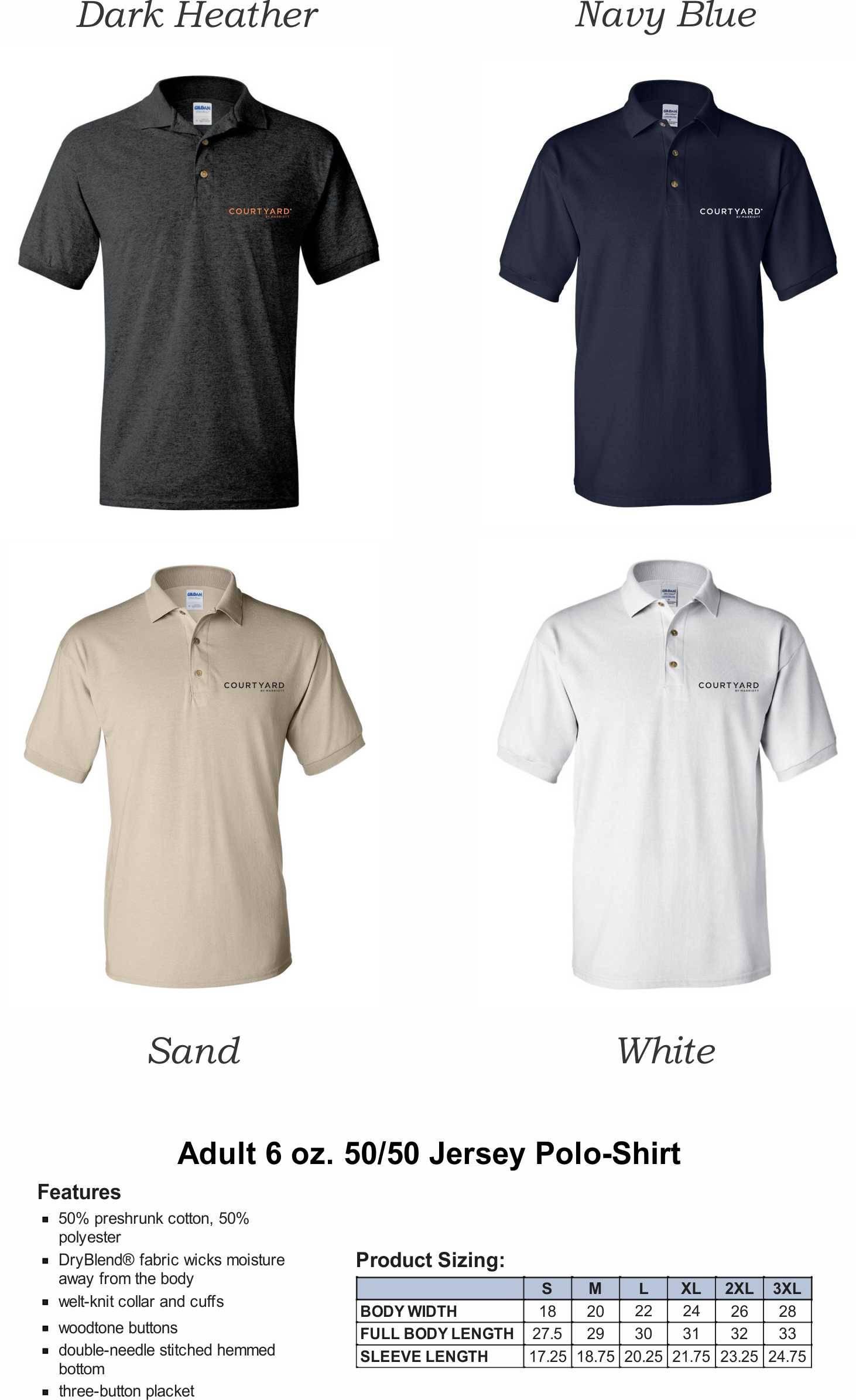 Polo Shirts, DryBlend 50/50 Fabric | Silk-Screen Logo