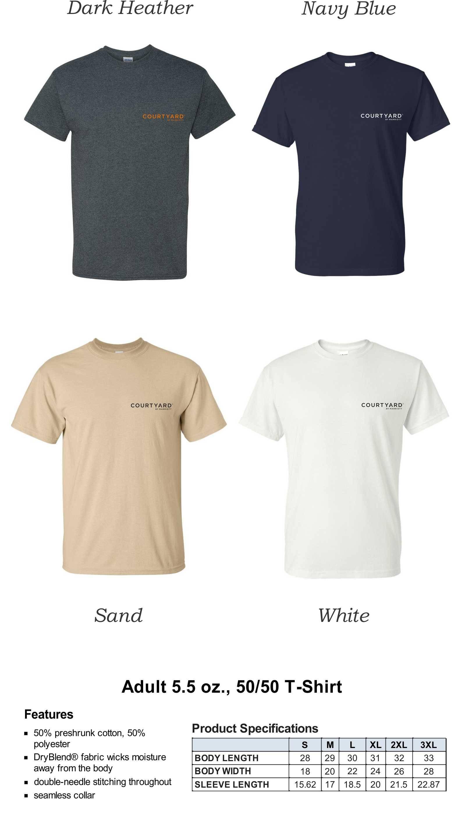 T-Shirts, HeavyWeight 50/50 |  DryBlend Fabric | Silk-Screen Logo