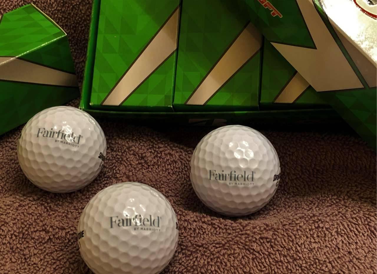 Golf Balls, 1 Dozen - 4 sleeves,  3 balls per sleeve.