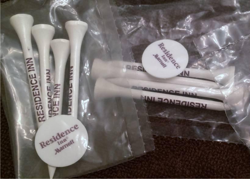 Golf Packs - 4 Tees / 1 Marker - Individually polybagged