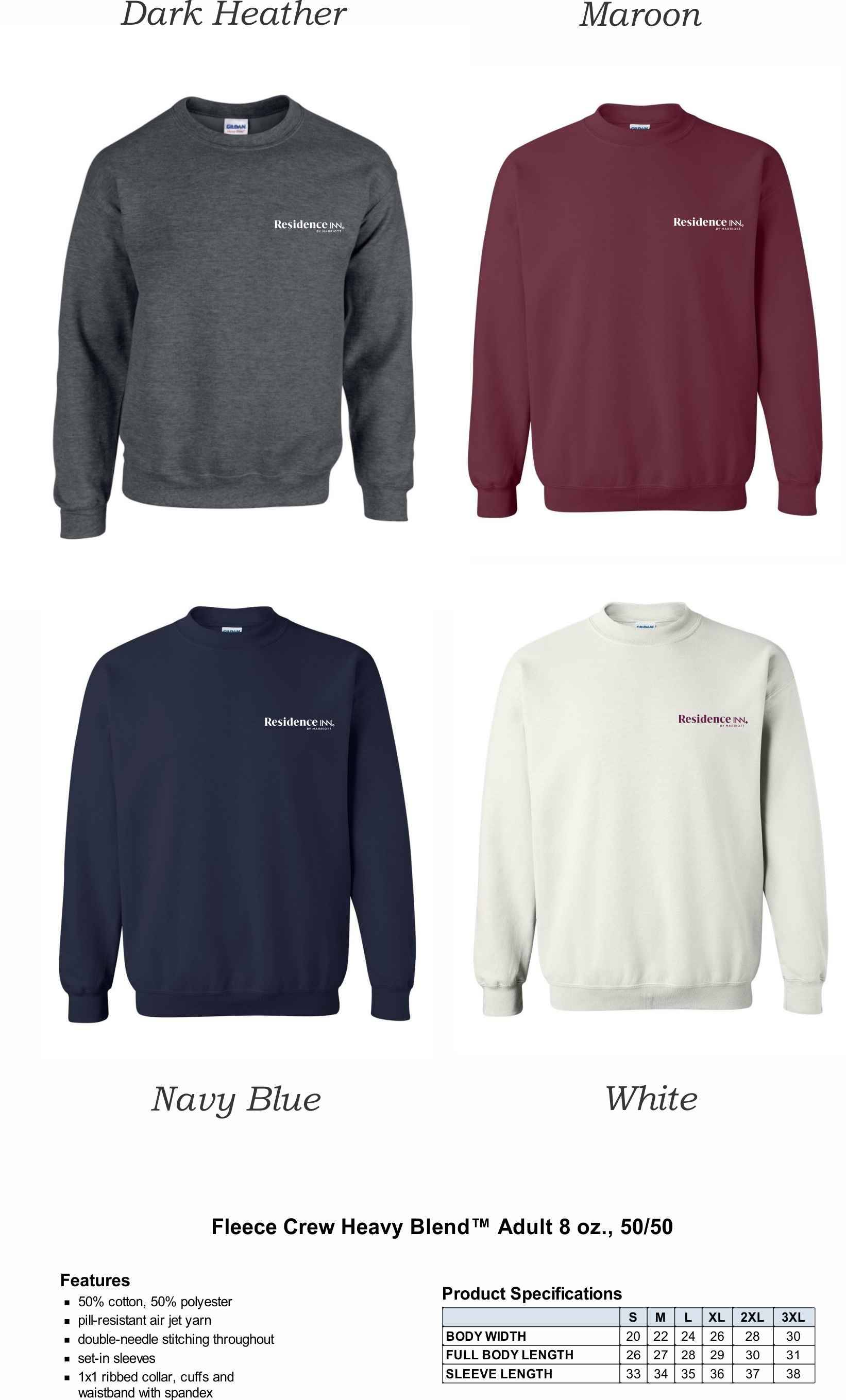 Sweatshirts, Crewneck. | 50/50 Heavy Blend | Silk-Screen Logo