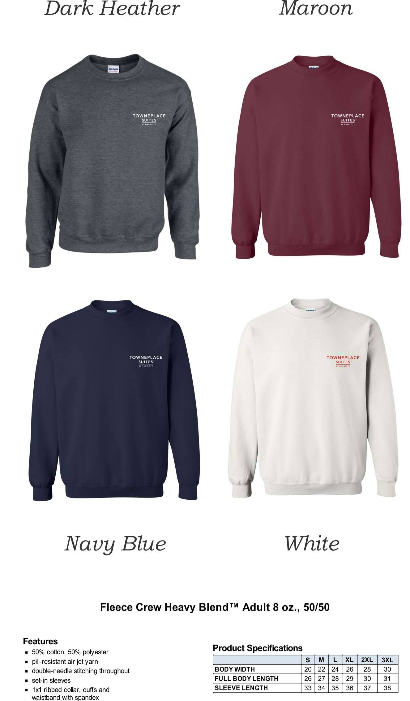 Sweatshirts, Crewneck. | 50/50 Heavy Blend Fabric | Silk-Screen Logo