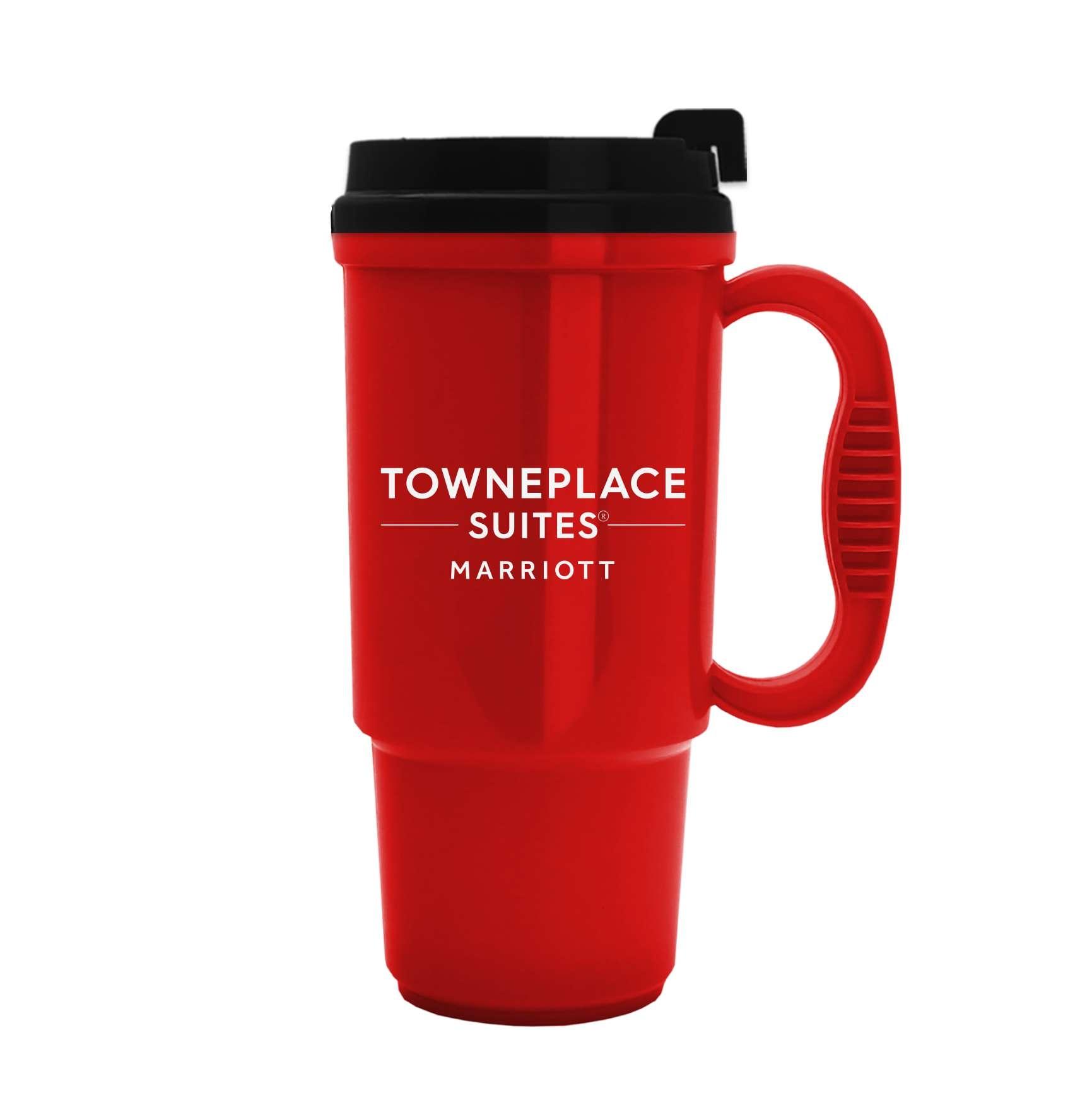 Travel Mugs. 16oz. | Insulated | No Spill Lid | 2 Sided Logo | BPA Free & FDA Compliant | Dishwasher Safe