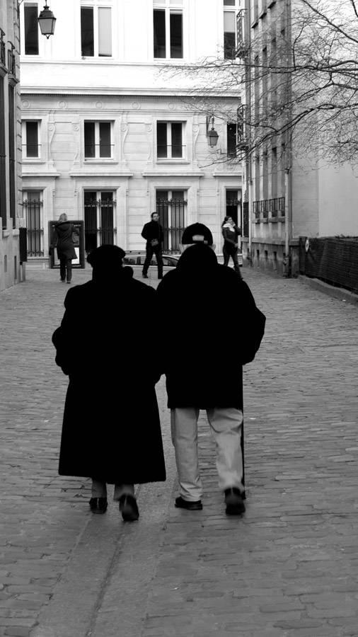 Old Couple Paris Streets
