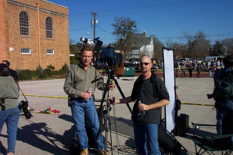 In East Texas after Space shuttle crash for ABC News