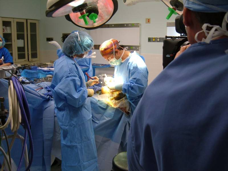 AJ during Surgery for Discovery Channel