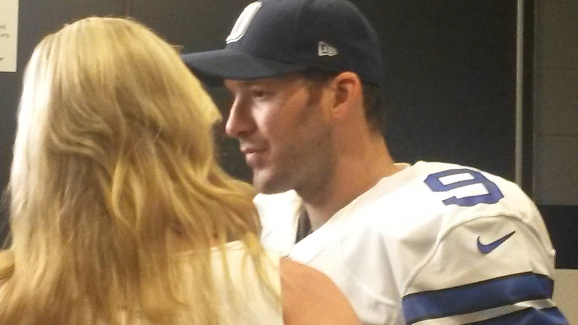 Tony Romo outside lockerroom
