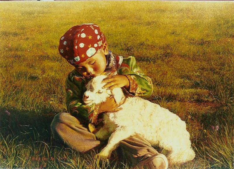 Child and Lamb