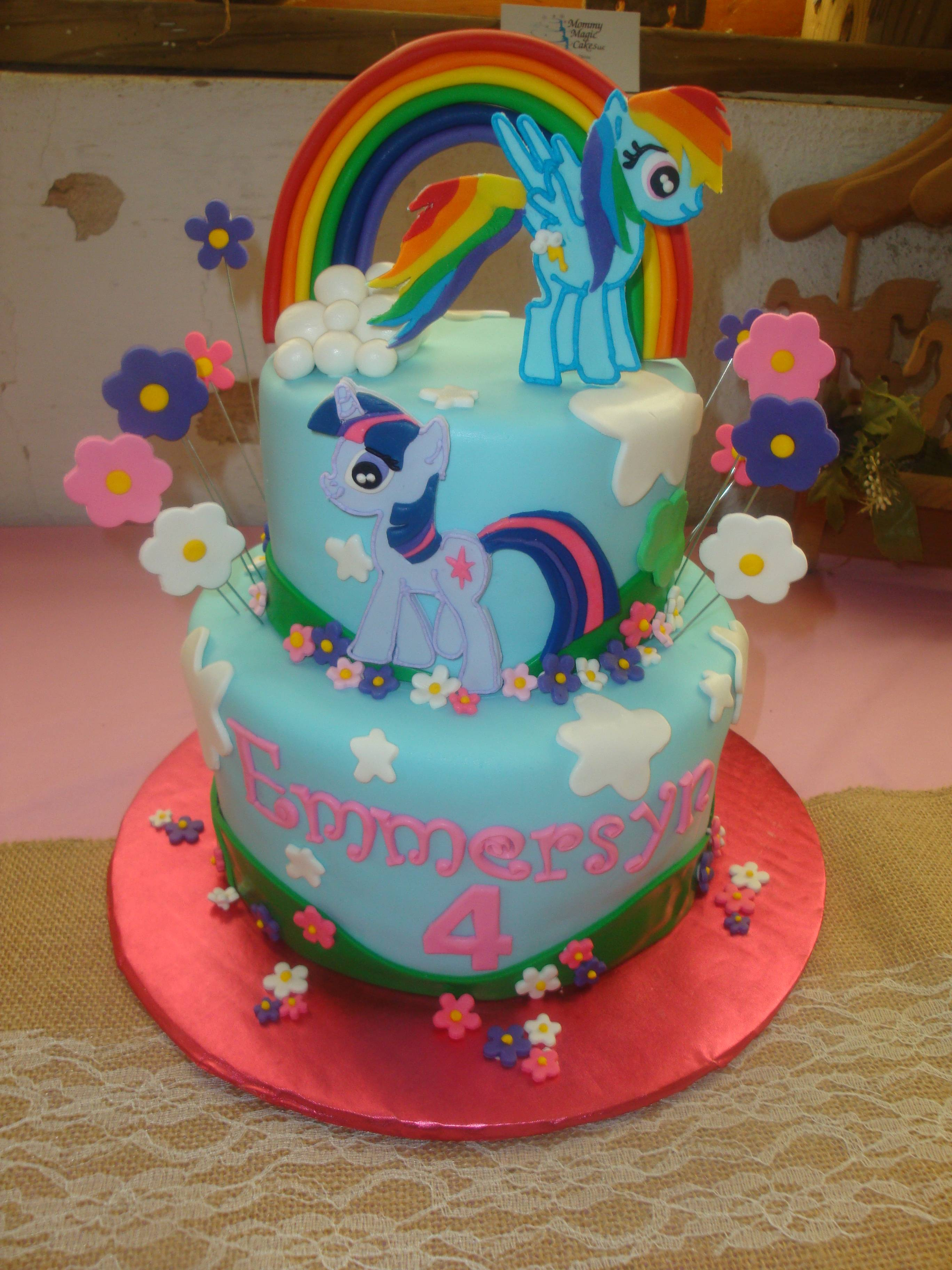 25 serving 2 tiered fondant pony cake $200