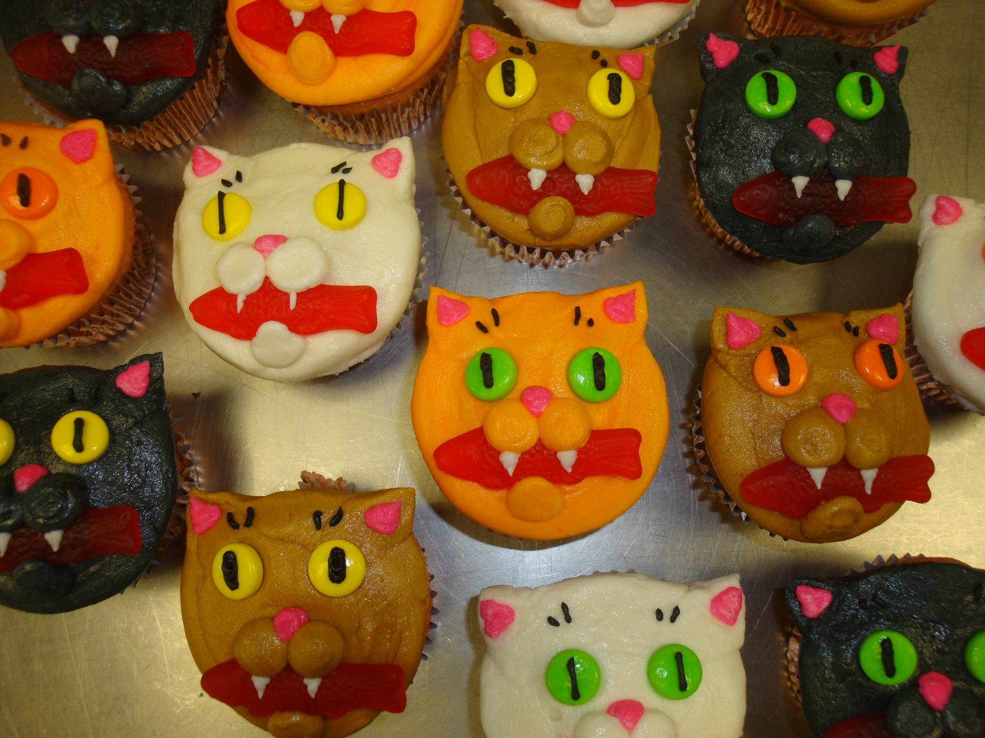 Cats with fish cupcakes $5 each