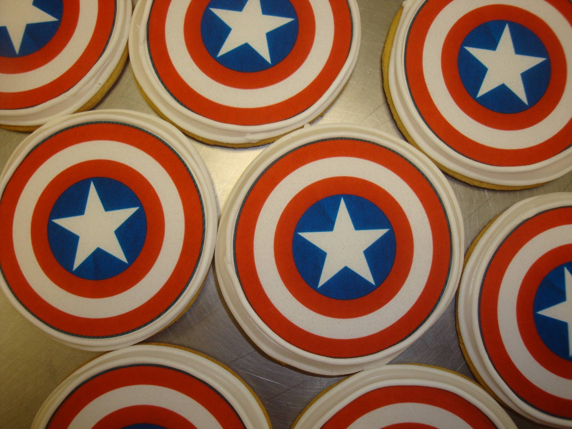 Captian America photo decal cookies $3.50 each