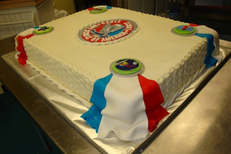 180 serving boyscout cake $5/serving