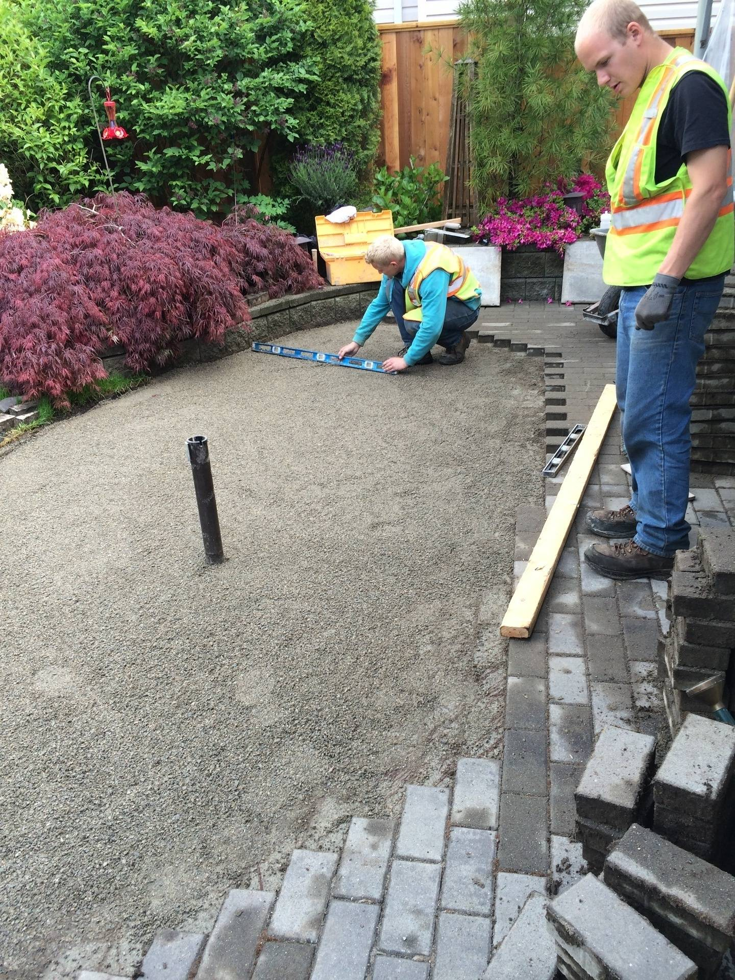Patio repair work & Drainage repair
