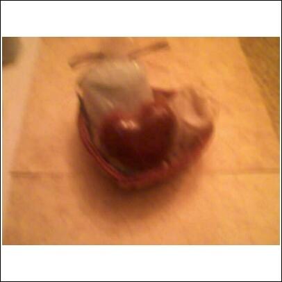 Small Heart Shaped Bath Gift Basket