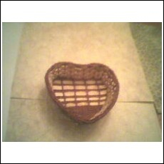 1 Small Heart shaped two tone gift basket