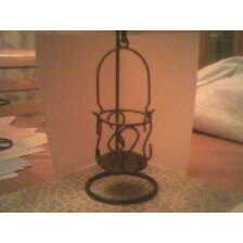 Sm. Wire Hanging Container Candle Holder