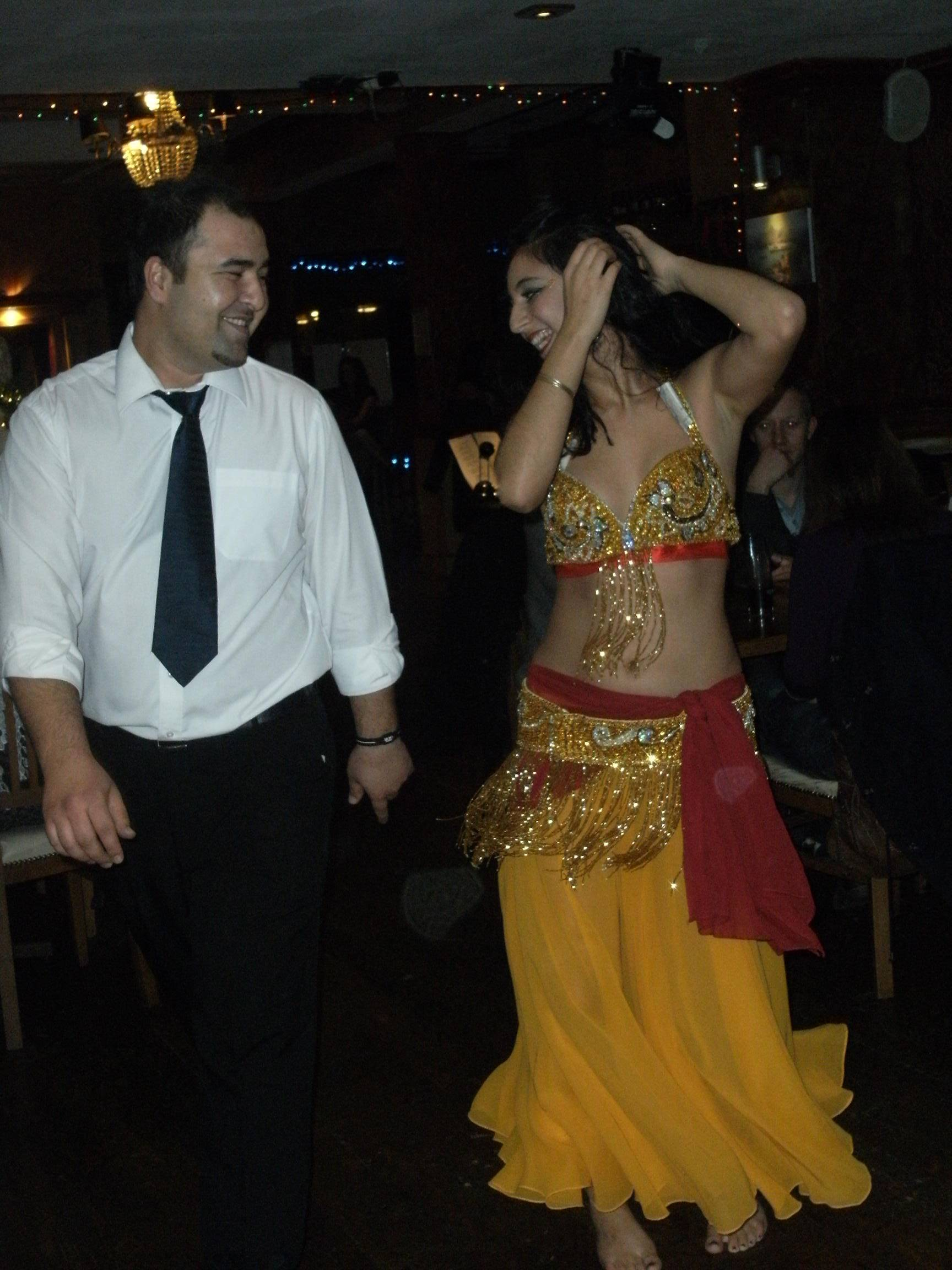 Dancing with the waiters!