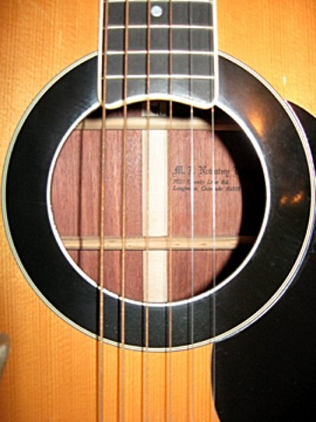 Novotny guitar soundhole & stamp
