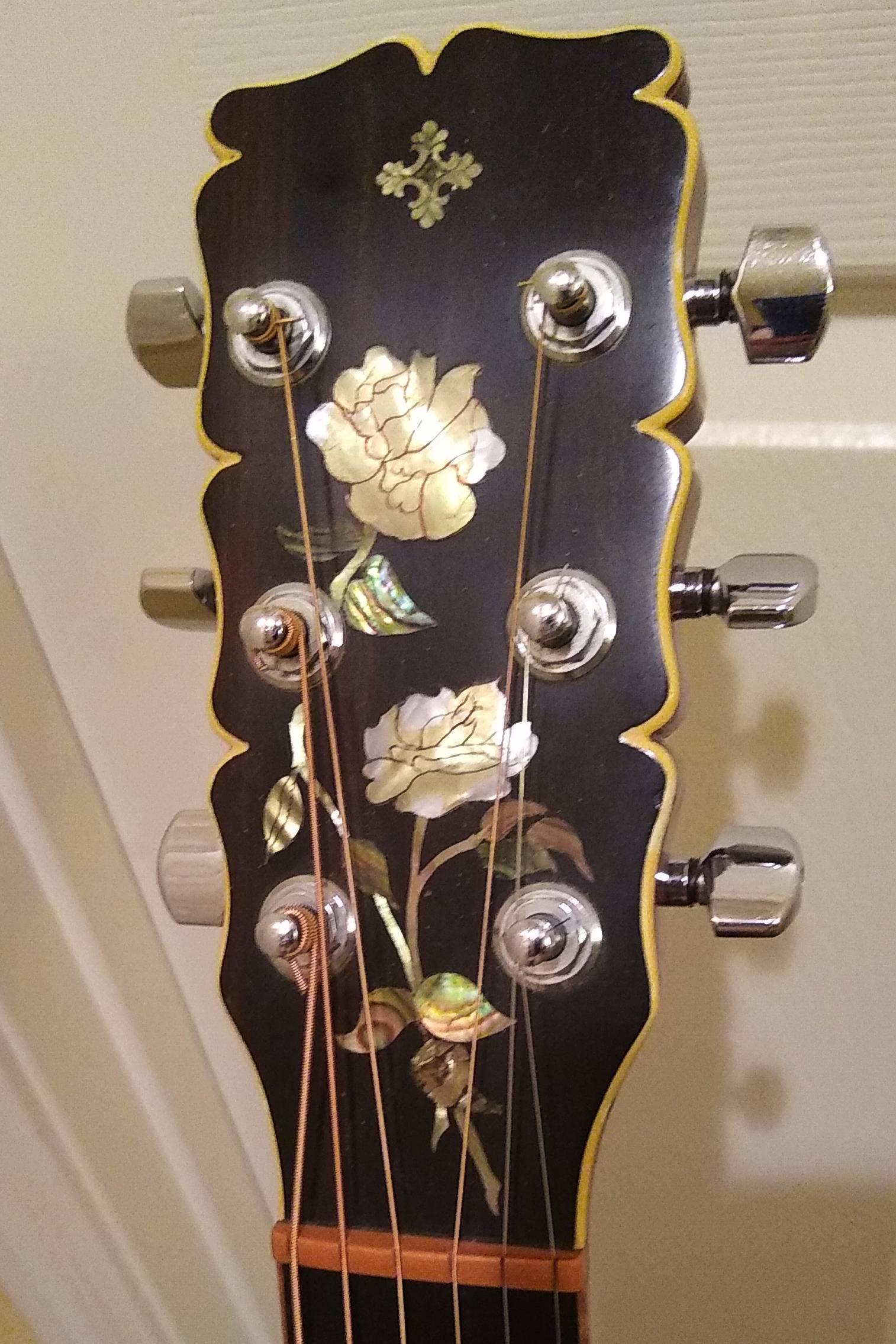 Novotny custom concert headstock inlay