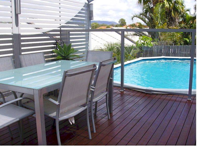 Privacy Screen and Glass Pool Fencing with Top Rail
