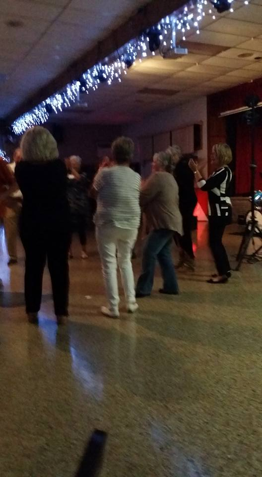 group dancing away