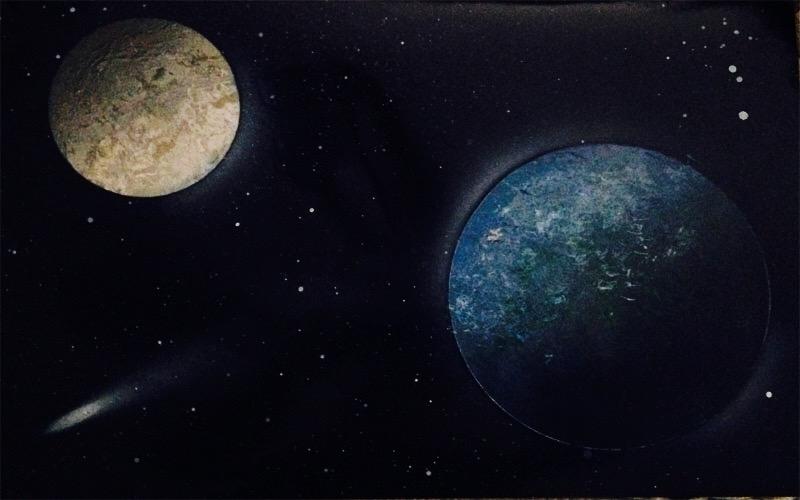 Earth and Moon