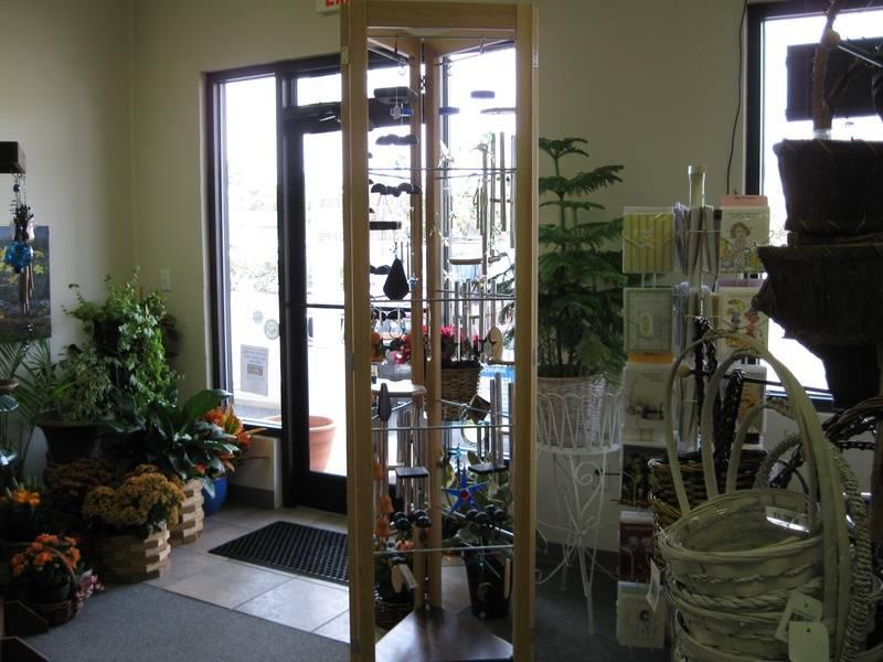 Handcrafted chime display rack - fine woodwork by Steve Glenn Carpentry